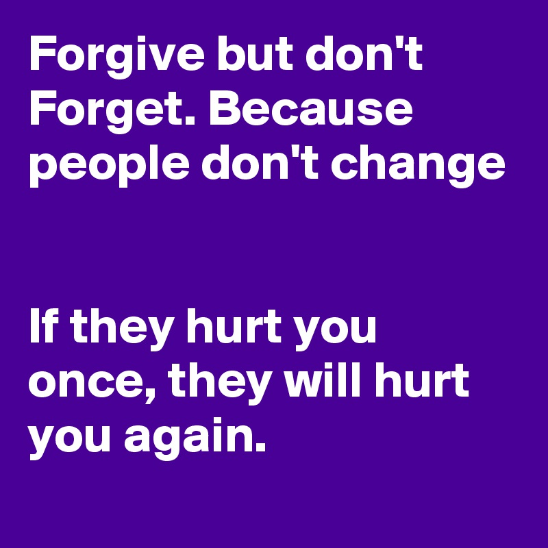 Why people don t forgive