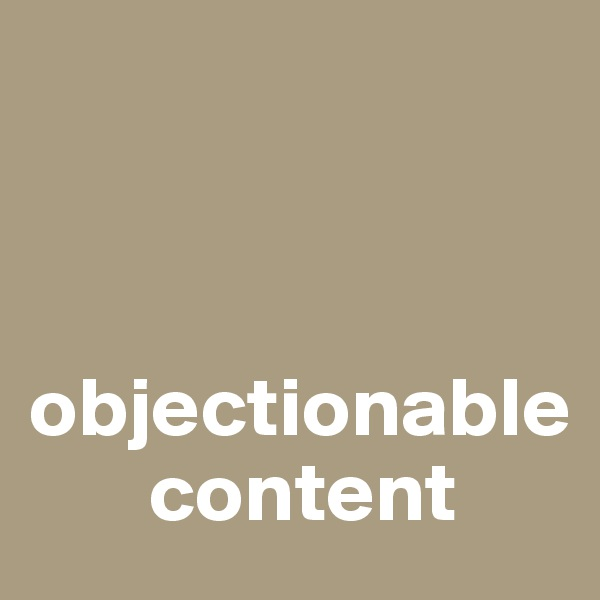 objectionable         content