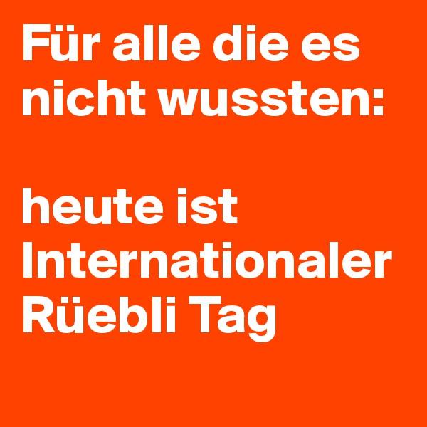 Für alle die es nicht wussten:   heute ist Internationaler Rüebli Tag