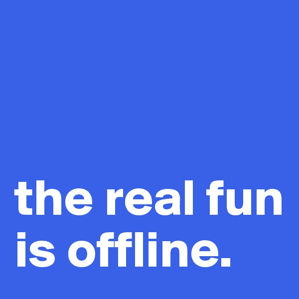 the real fun is offline.
