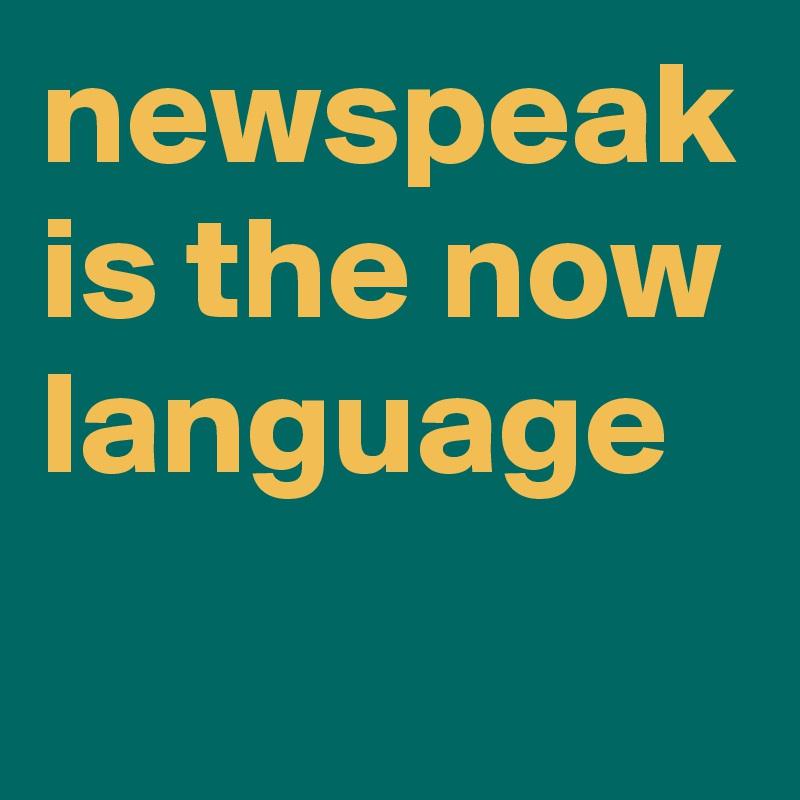 newspeak is the now language
