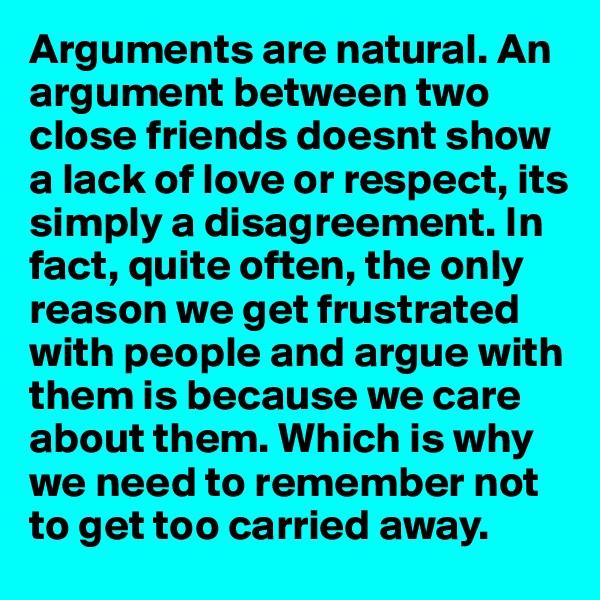Argument between friends essay