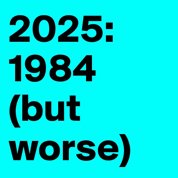 2025: 1984 (but worse)