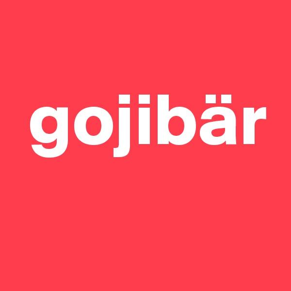 gojibär