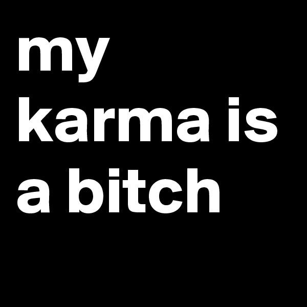 my karma is a bitch