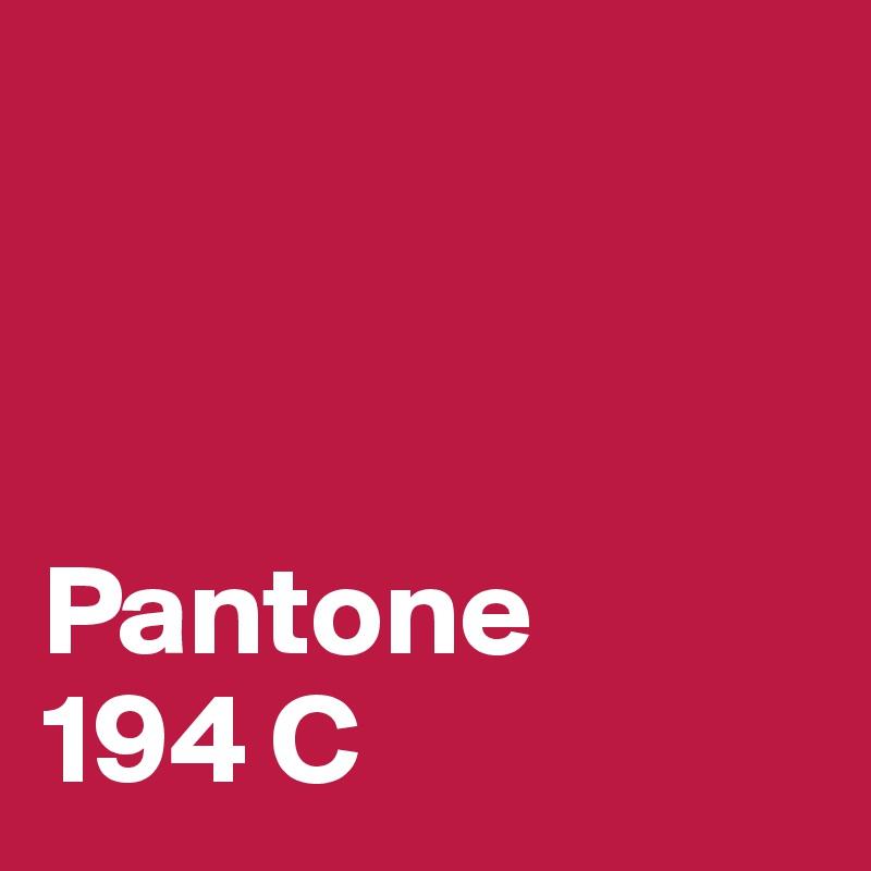 Pantone  194 C