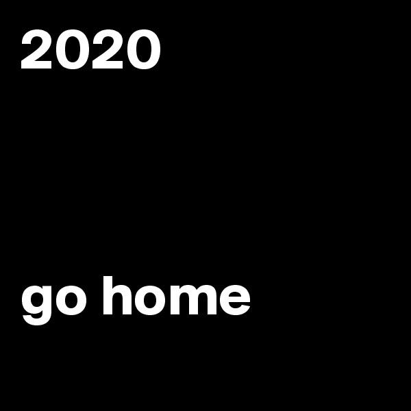2020    go home