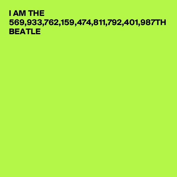 I AM THE 569,933,762,159,474,811,792,401,987TH BEATLE