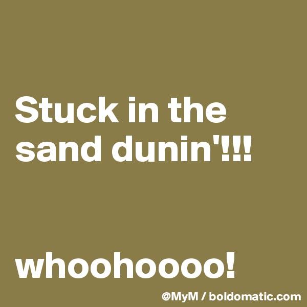 Stuck in the sand dunin'!!!   whoohoooo!
