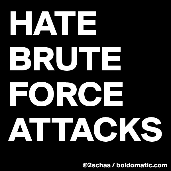 HATE BRUTE FORCE ATTACKS