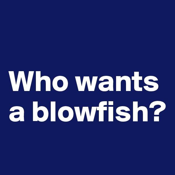 Who wants a blowfish?
