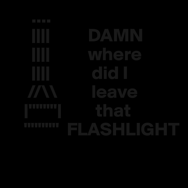 "....       ||||          DAMN       ||||          where       ||||           did I      //\         leave     |'""""""'