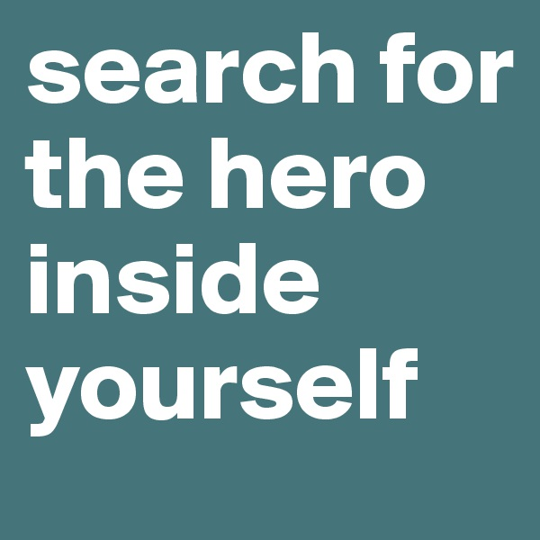 search for the hero inside yourself