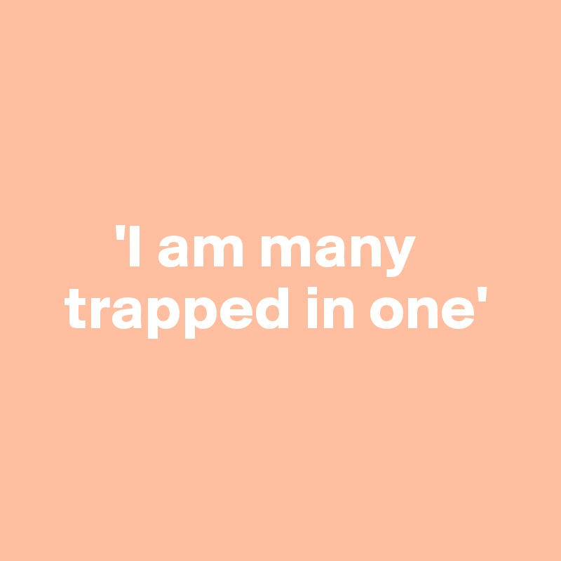 'I am many        trapped in one'