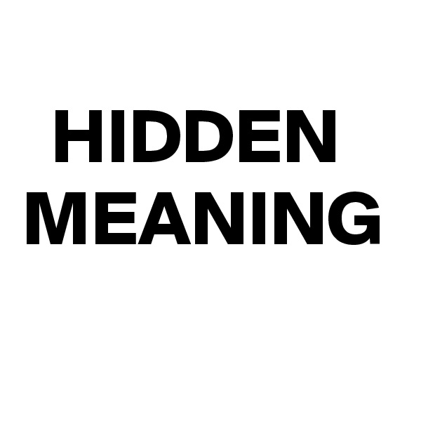 HIDDEN  MEANING