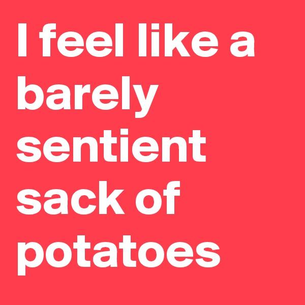 I feel like a barely sentient sack of potatoes
