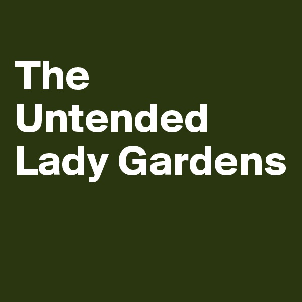The Untended Lady Gardens