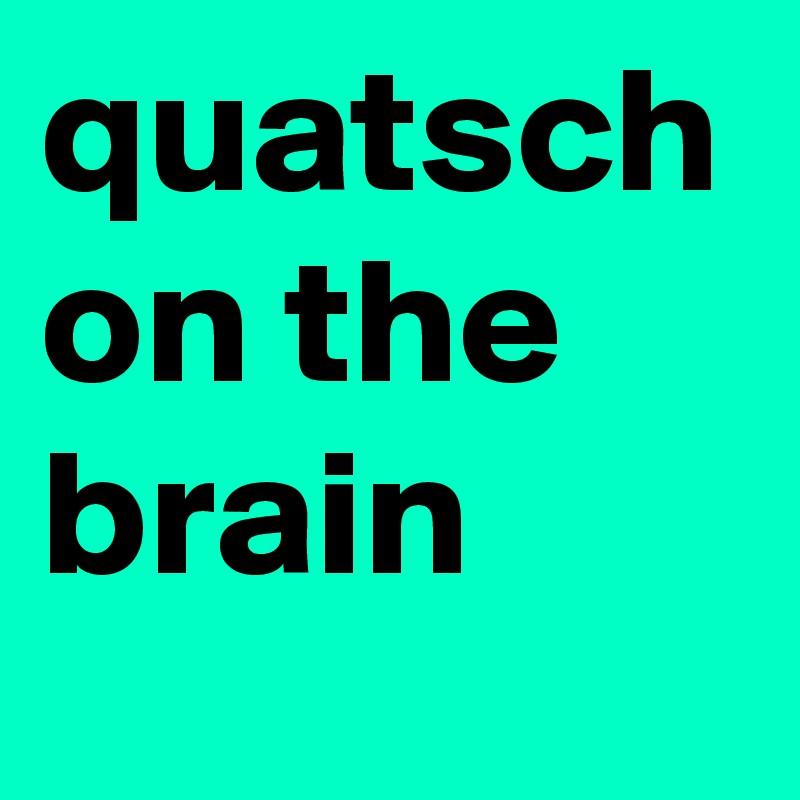 quatsch on the brain