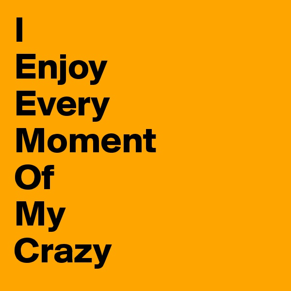 I Enjoy Every Moment Of My Crazy