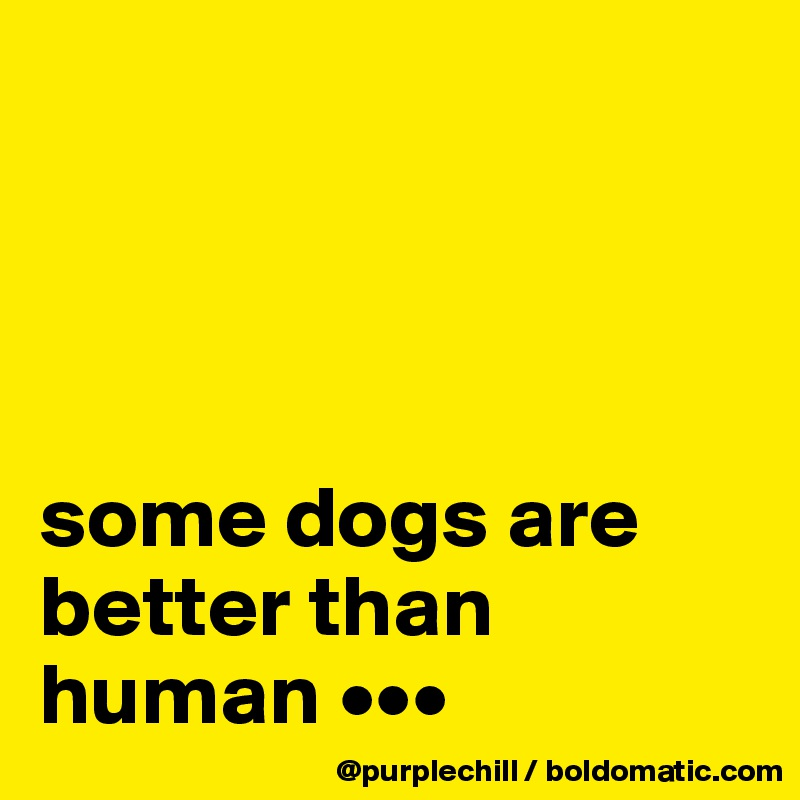 some dogs are better than human •••