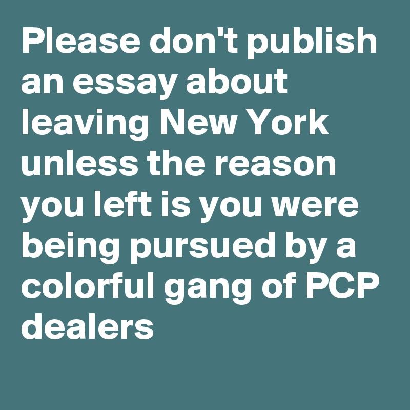 Publish an essay