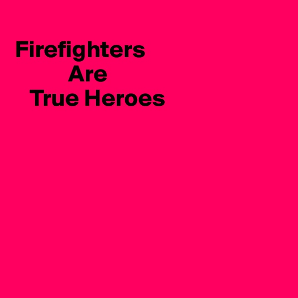 Firefighters            Are    True Heroes