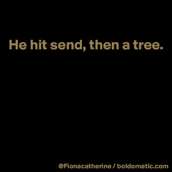 He hit send, then a tree.