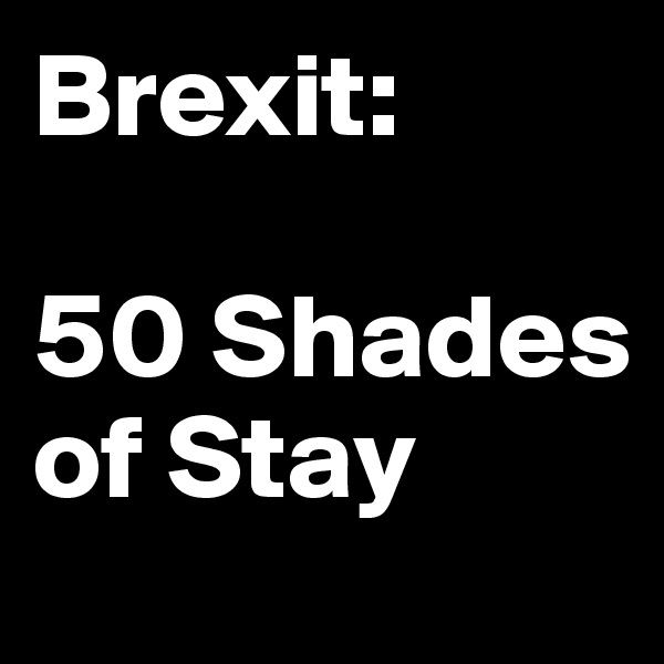 Brexit:  50 Shades of Stay