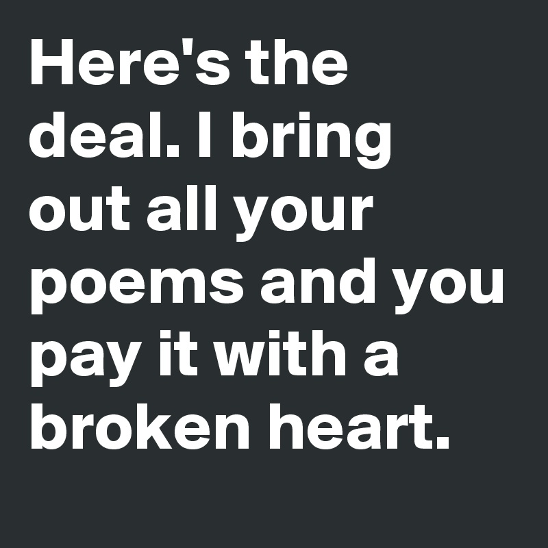 to every broken heart in here