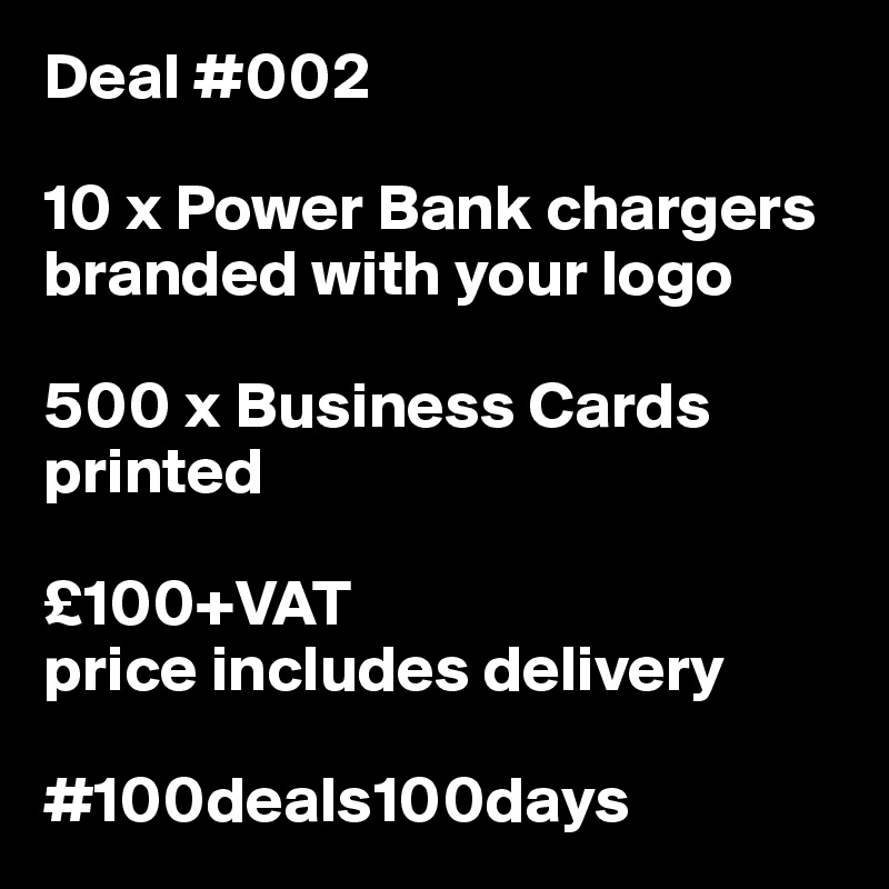 Deal 002 10 x power bank chargers branded with your logo 500 x deal 002 10 x power bank chargers branded with your logo 500 x business cards colourmoves
