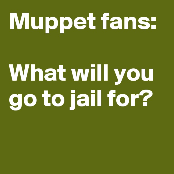 Muppet fans:  What will you go to jail for?