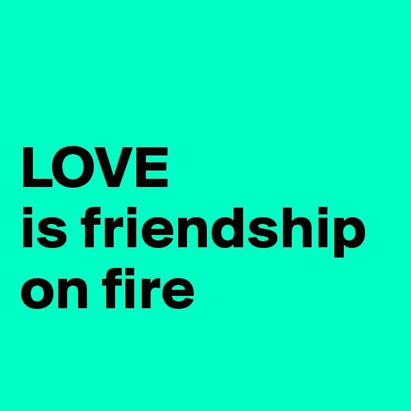 LOVE is friendship on fire