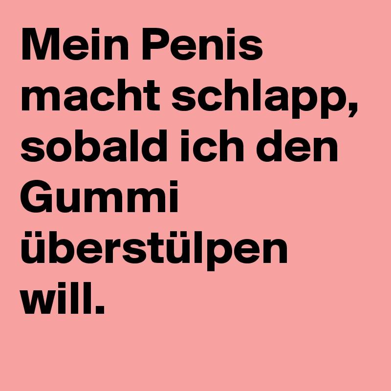 penis macht schlapp