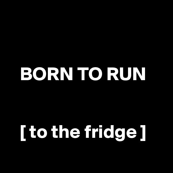 BORN TO RUN      [ to the fridge ]