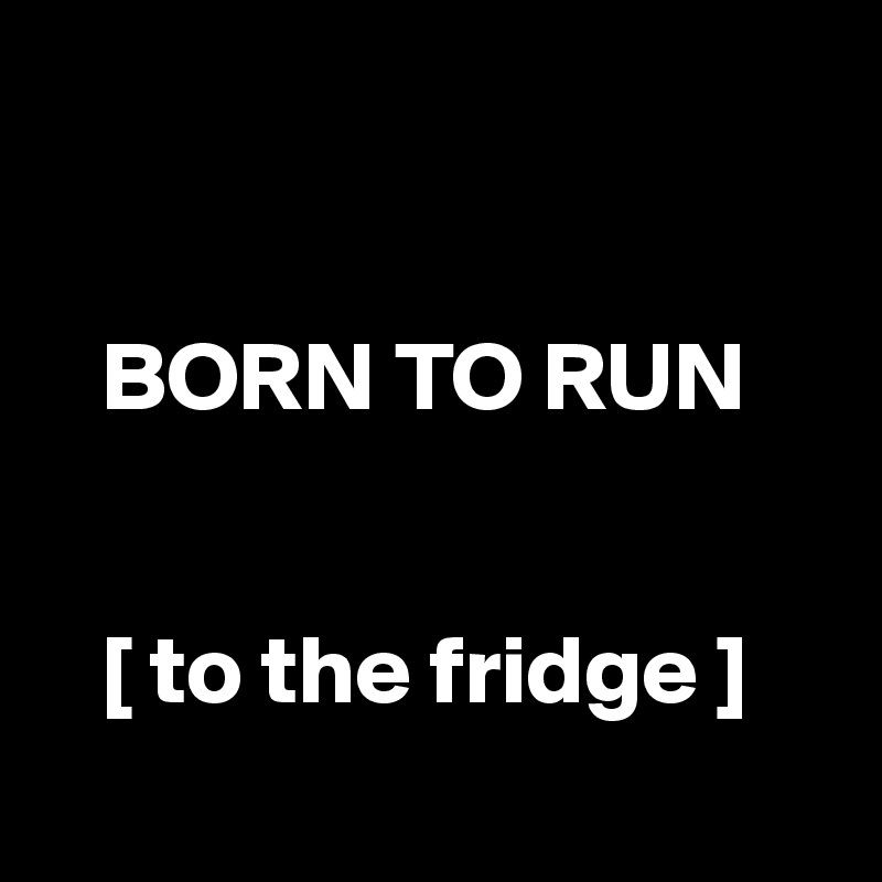 BORN TO RUN      [ to the fridge ]