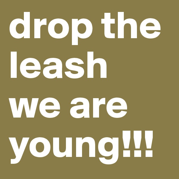 drop the leash we are young!!!