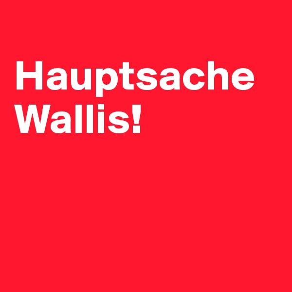 Hauptsache Wallis!