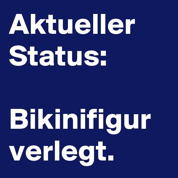 Aktueller Status:  Bikinifigur verlegt.