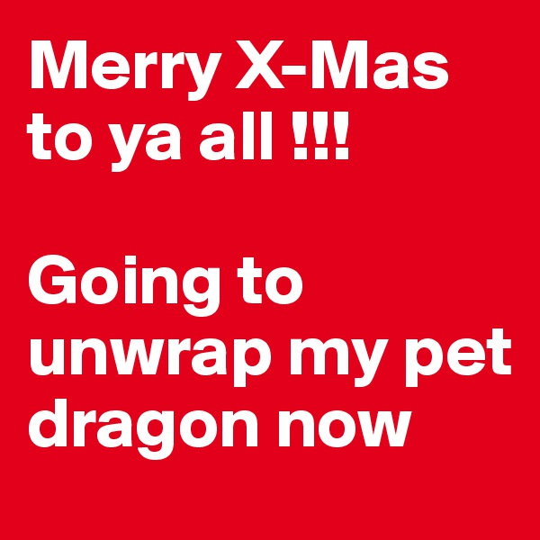 Merry X-Mas to ya all !!!  Going to unwrap my pet dragon now