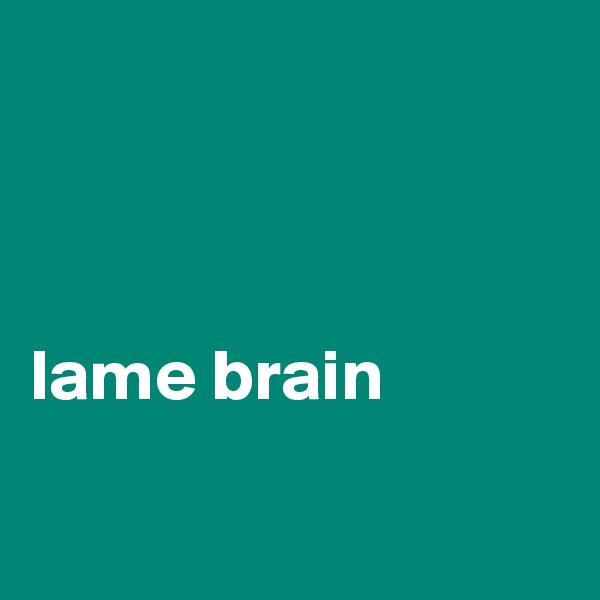lame brain
