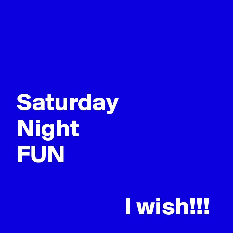 Saturday  Night  FUN                         I wish!!!