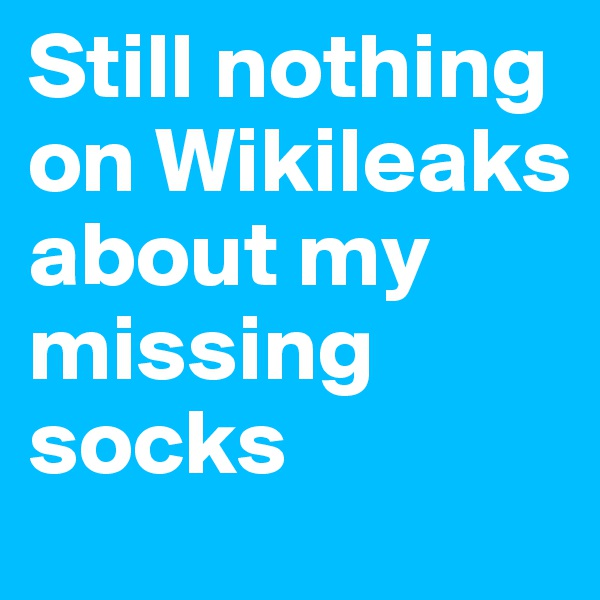 Still nothing on Wikileaks about my missing socks