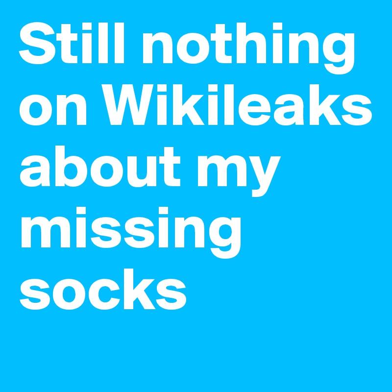 Still nothing on Wikileaks about my missing socks