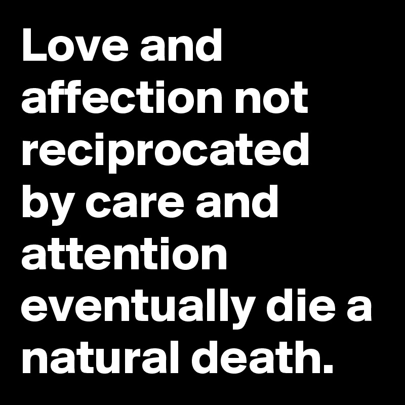 Care and affection