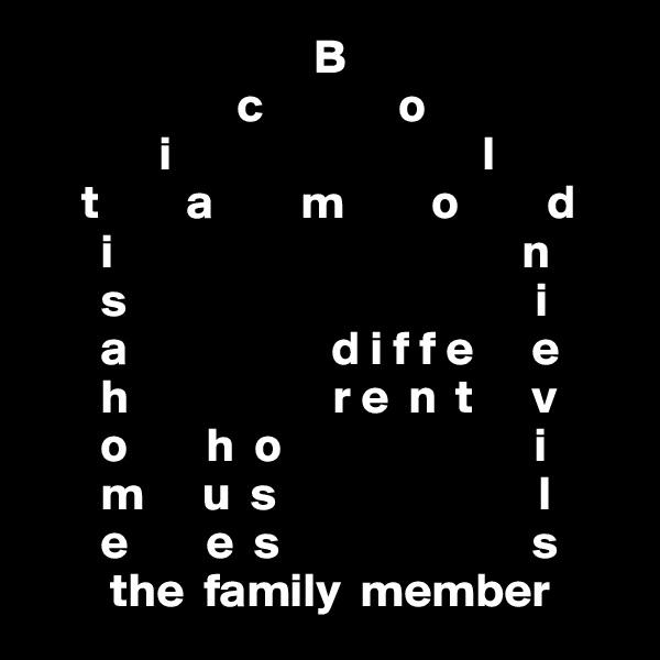 B                      c              o              i                                l      t         a         m         o         d        i                                          n        s                                          i        a                     d i f f e      e        h                     r e  n  t      v        o        h  o                          i        m      u  s                           l        e        e  s                          s         the  family  member