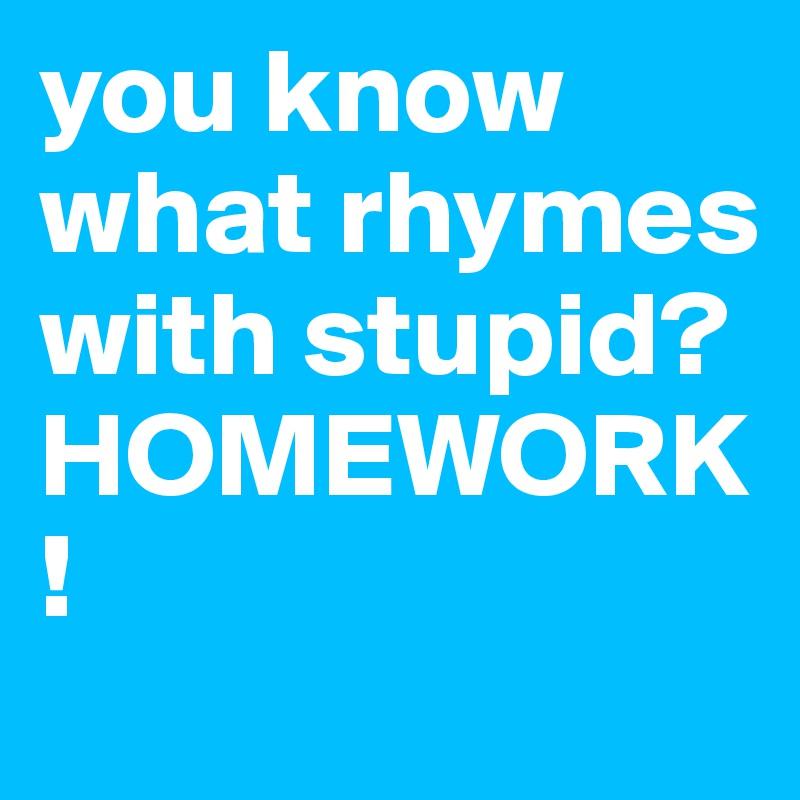 Rhymes homework