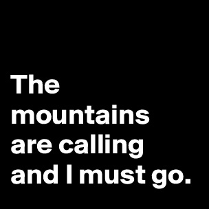 Girl does what she can post by ellisdee53 on boldomatic for The mountains are calling and i must go metal sign