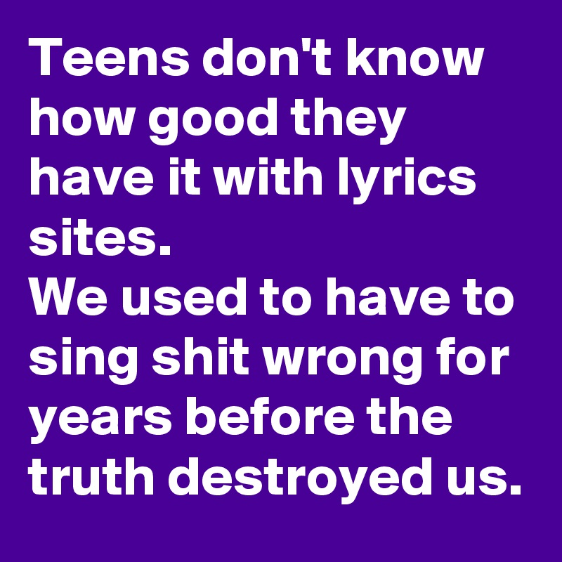 Teens destroyed
