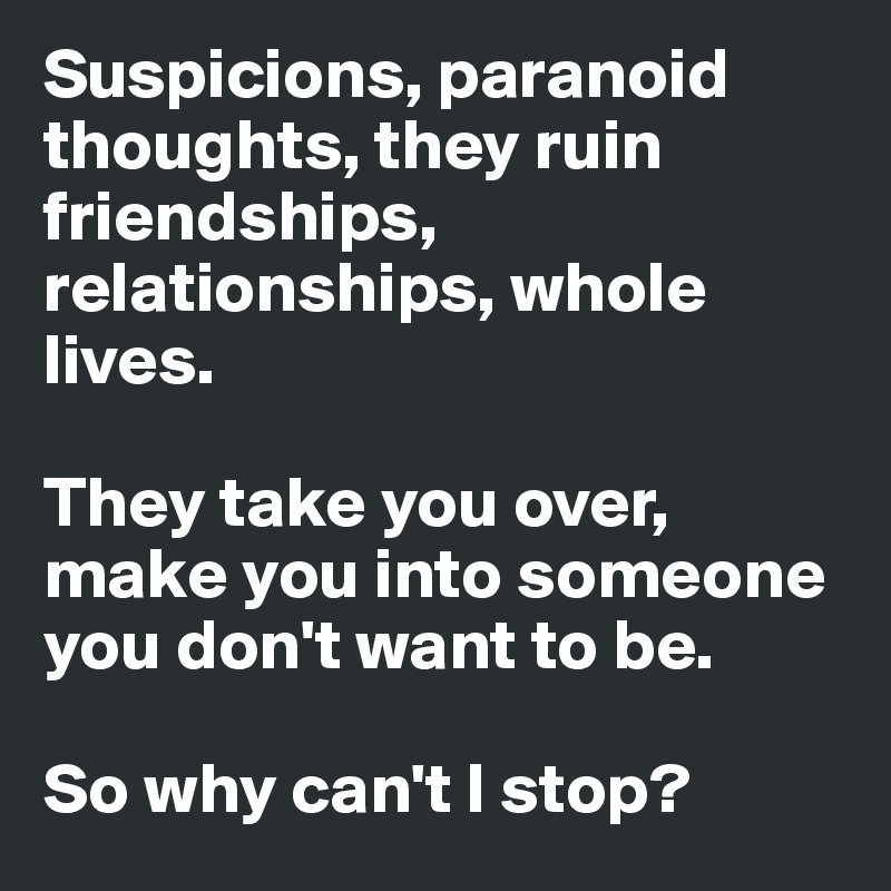 How to deal with paranoia in a relationship