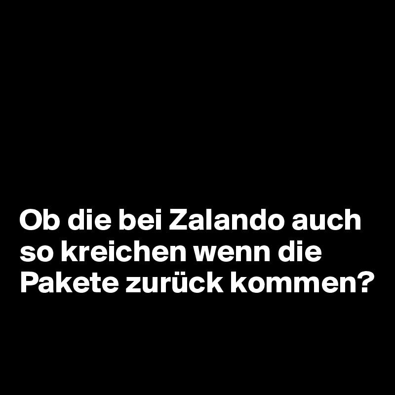 Ob die bei Zalando auch so kreichen wenn die Pakete zurück kommen?